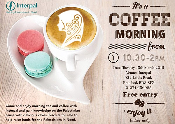 Coffee Morning Poster S Interpal