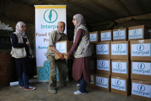 Food parcels for Palestinian families in Lebanon