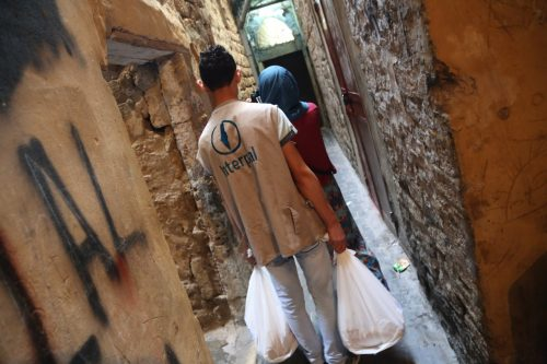 Delivering Fresh Food Parcels and Food Vouchers in the Palestinian Refugee Camps