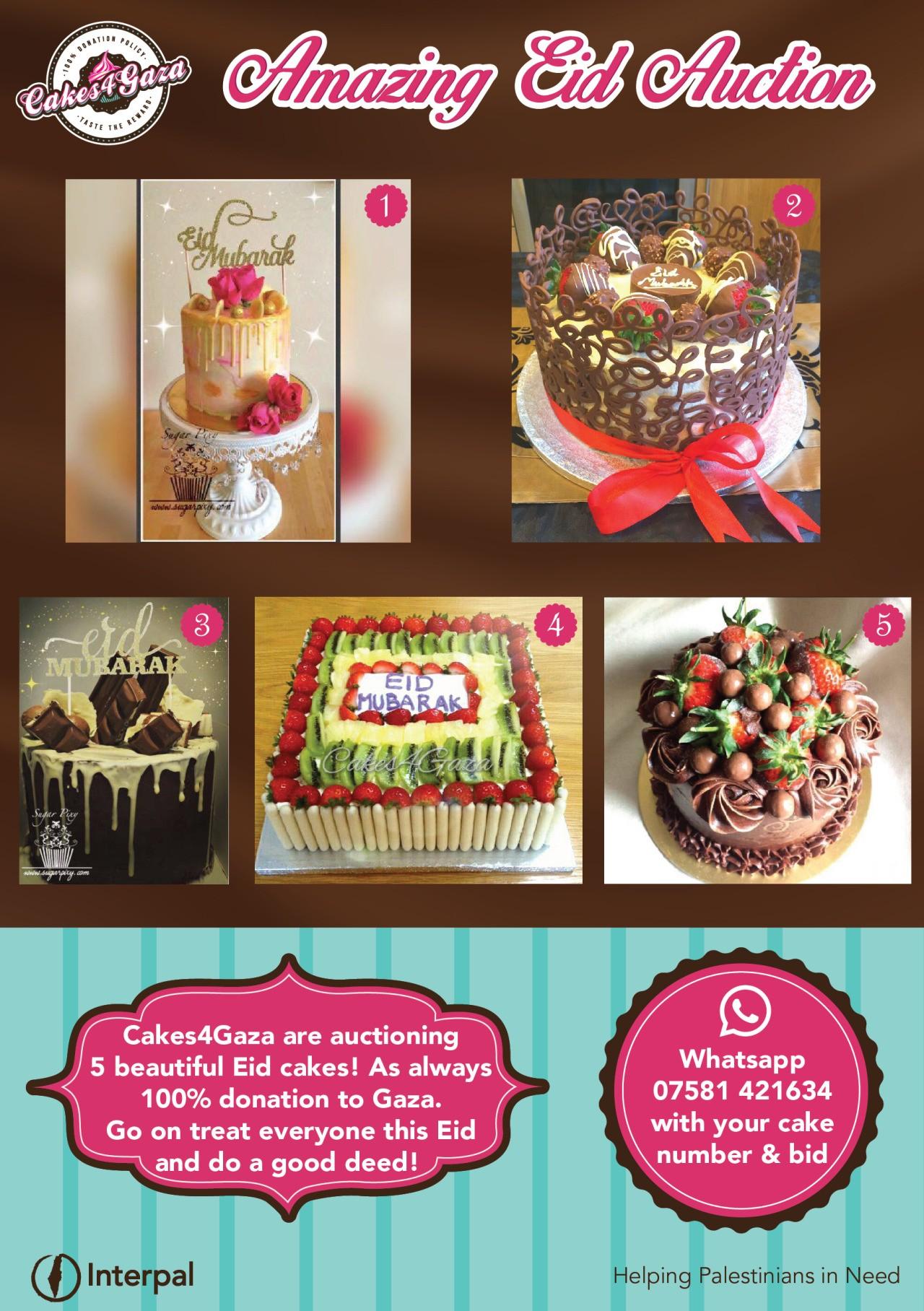 Cakes for Gaza – Ramadan Auction!