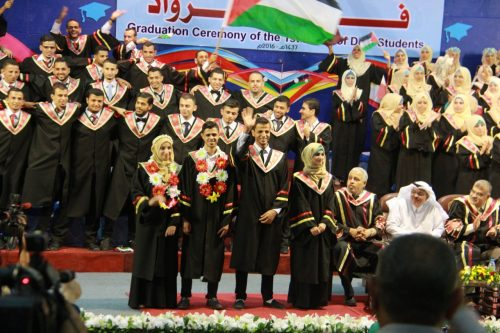 Congratulations to students graduating from the Islamic University of Gaza!