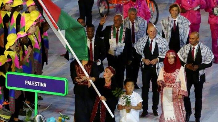 #TeamPalestine on the road to Rio