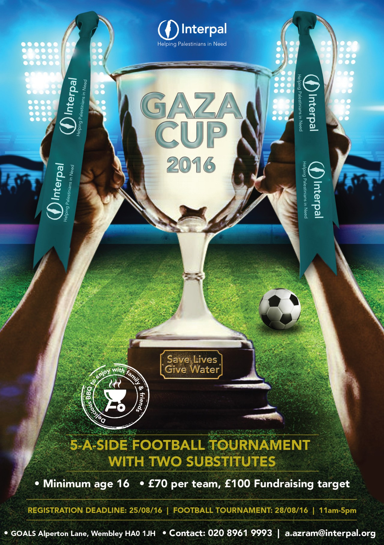 Get ready for the start of football season and raise money for Palestine at the same time!