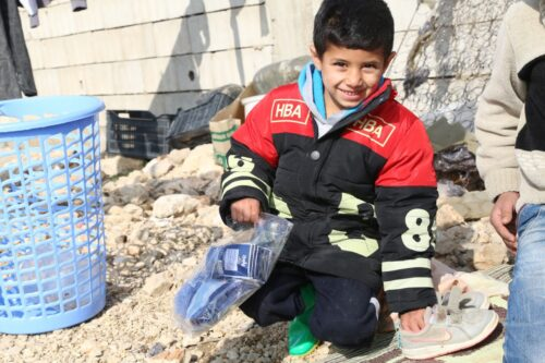 Winter Aid Distribution – West Bekaa Refugee Camp
