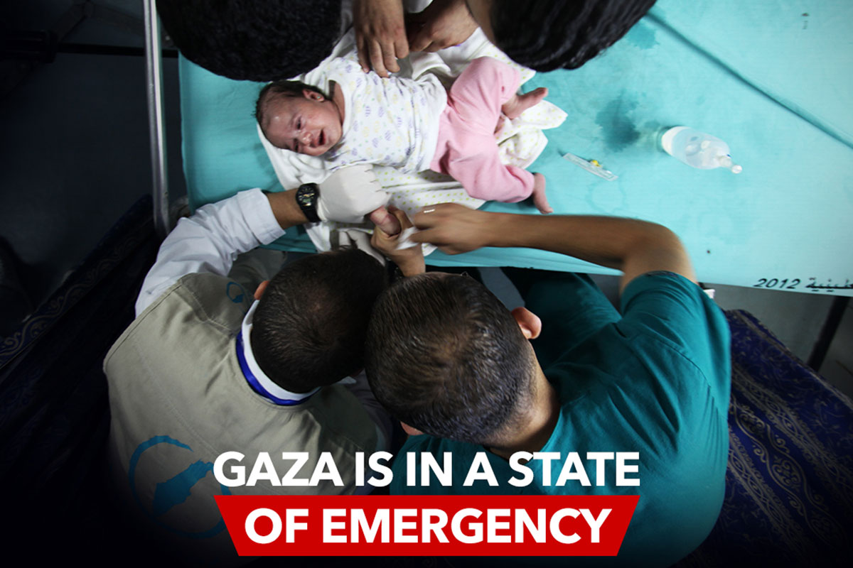 Gaza is in a state of emergency