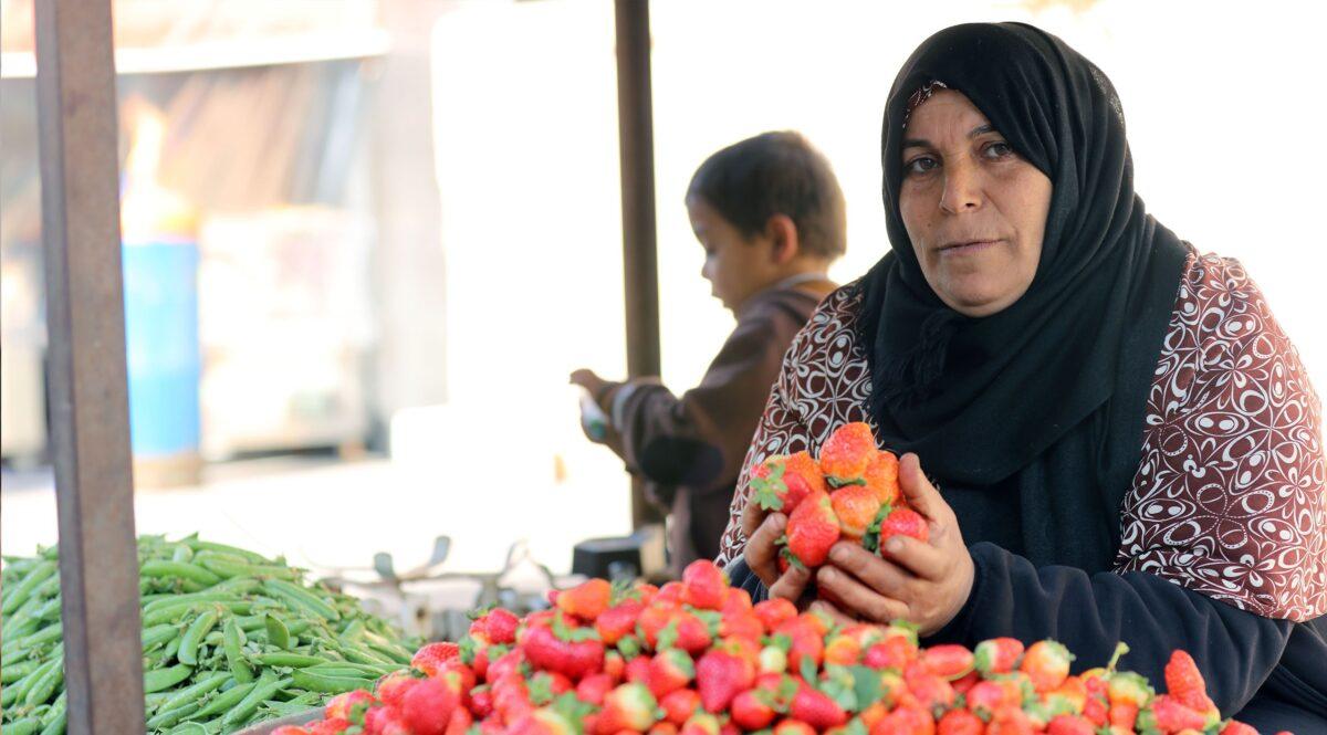 Interpal - No Ordinary Woman - Palestinian Strawberry Seller - International Women's Day