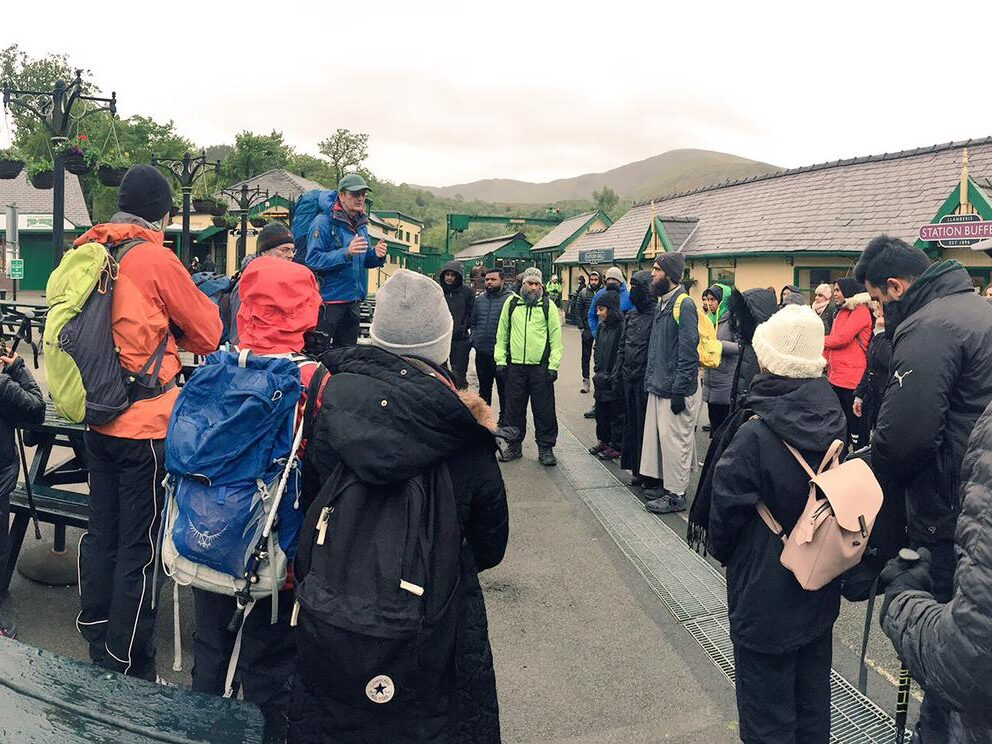 Interpal supporters climb Snowdon for Palestine