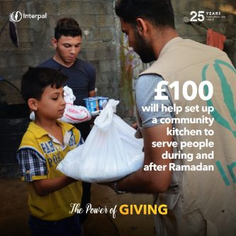 £100 will help set up a community kitchen to serve people during and after Ramadan
