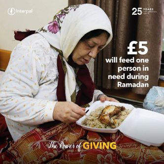 £5 will feed a person in need during Ramadan