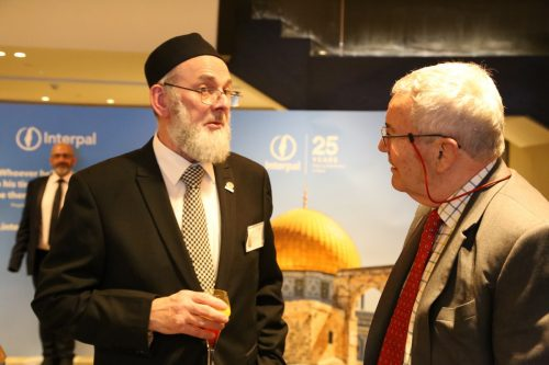 Interpal's Chairman Ibrahim Hewitt and Patrick Orr at Interpal's 25th Anniversary Dinner on November 30, 2019