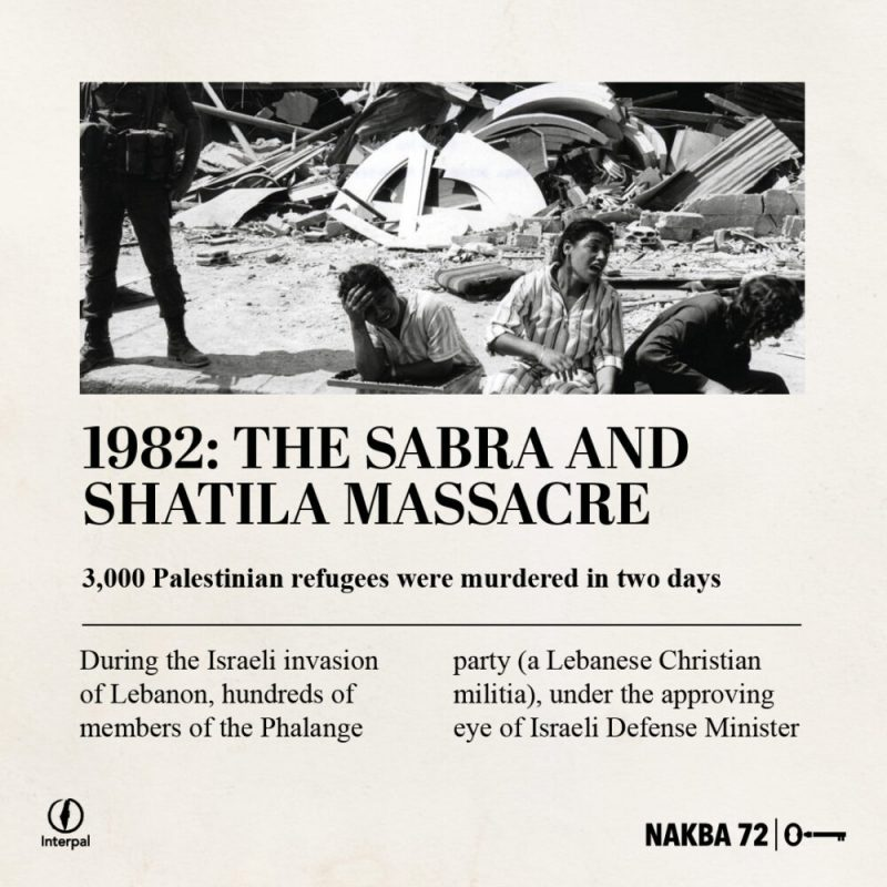Interpal Nakba 72 Timeline 1982 A