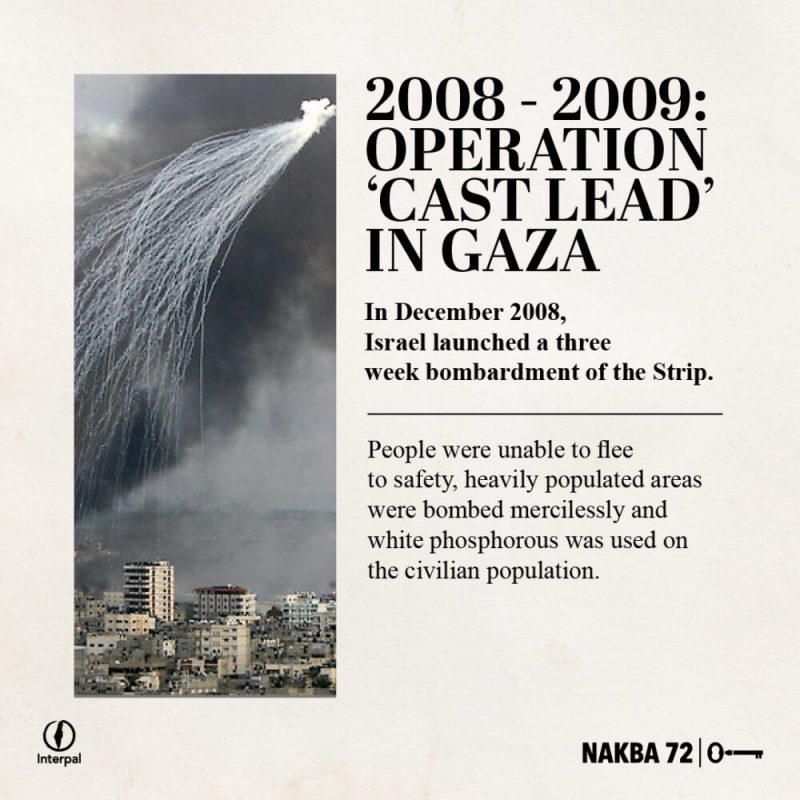 Interpal Nakba 72 Timeline 2008 A