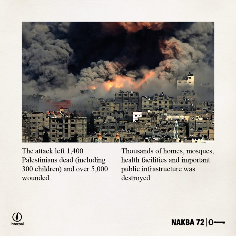 Interpal Nakba 72 Timeline 2008 B