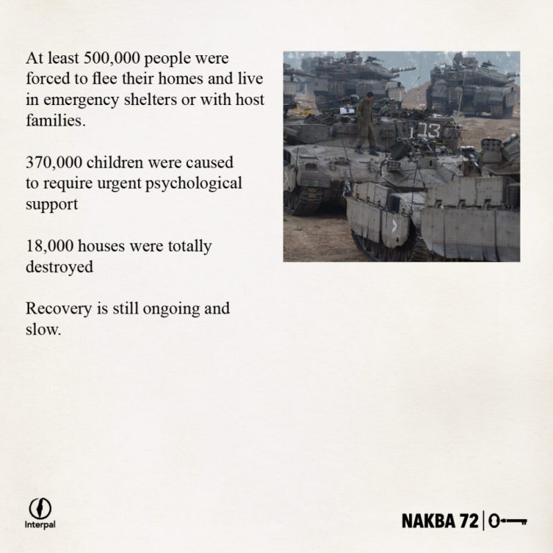 Interpal Nakba 72 Timeline 2014 B