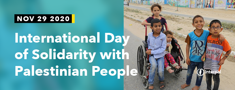 Interpal International Days 2020-Solidarity with Palestinian People Email Banner