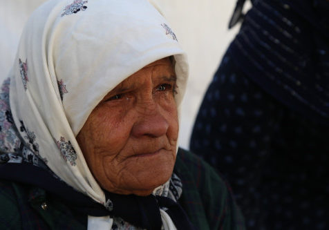 Fatima, 78 years old, Palestinian refugee from Syria, now in Al Aoudi Refugee Camp, Lebanon